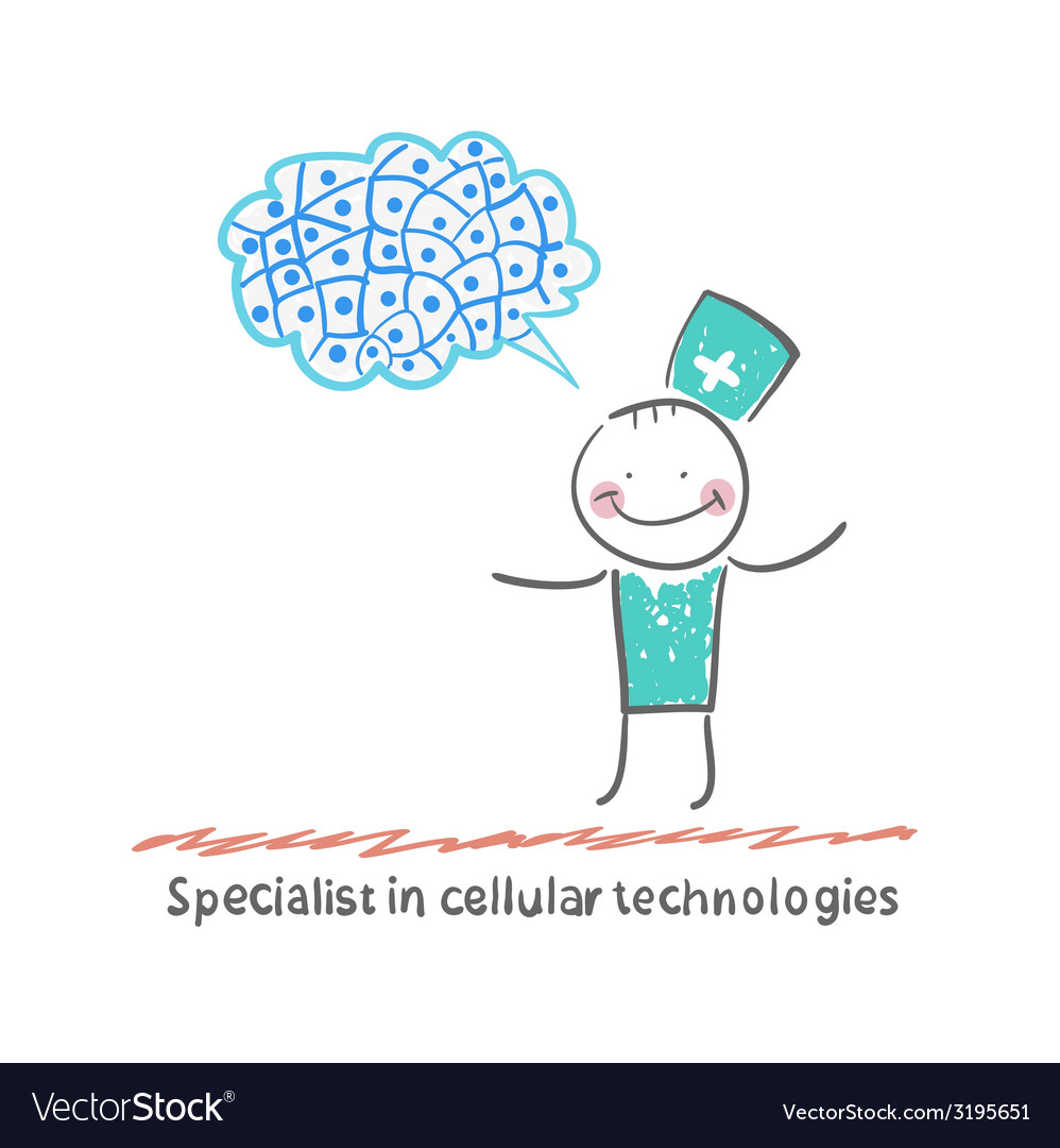 Specialist in cellular technologies thinks of vector | Price: 1 Credit (USD $1)