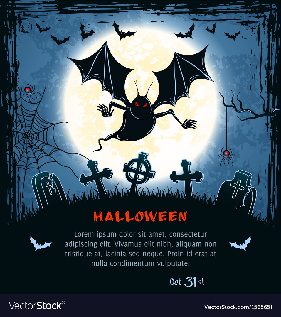 Spooky card for halloween vector | Price: 1 Credit (USD $1)