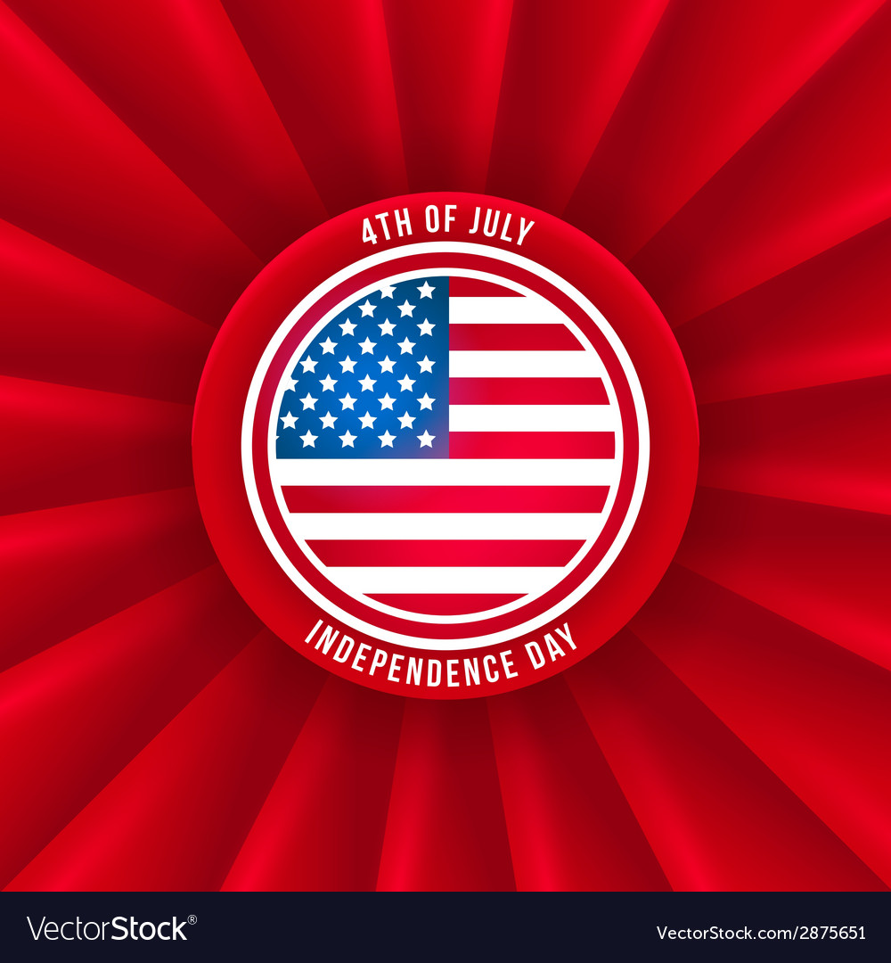 Sticker for independence day vector | Price: 1 Credit (USD $1)