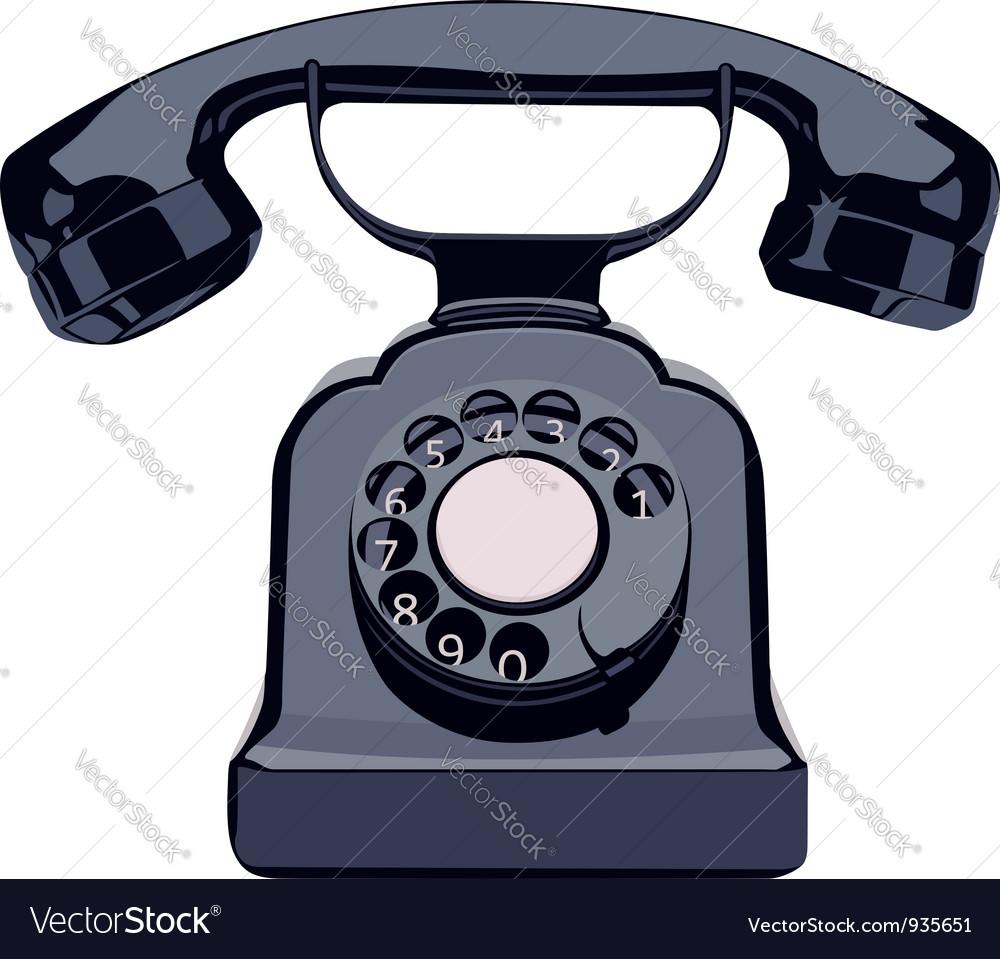 Vintage phone vector | Price: 1 Credit (USD $1)