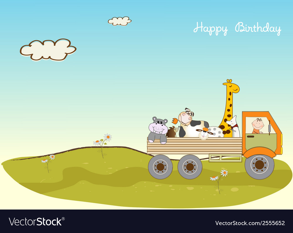 Birthday card with toys vector | Price: 1 Credit (USD $1)