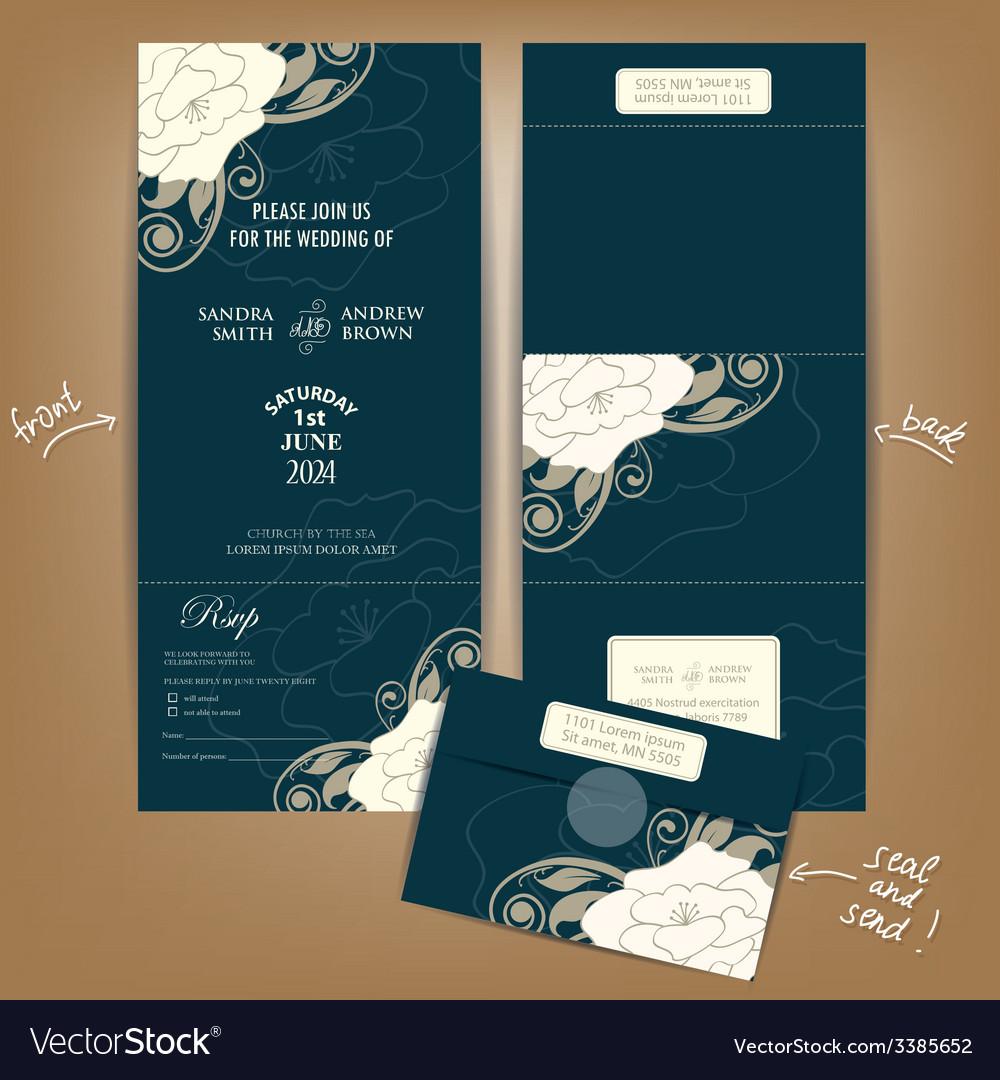 Dark seal and send wedding invitation vector | Price: 1 Credit (USD $1)