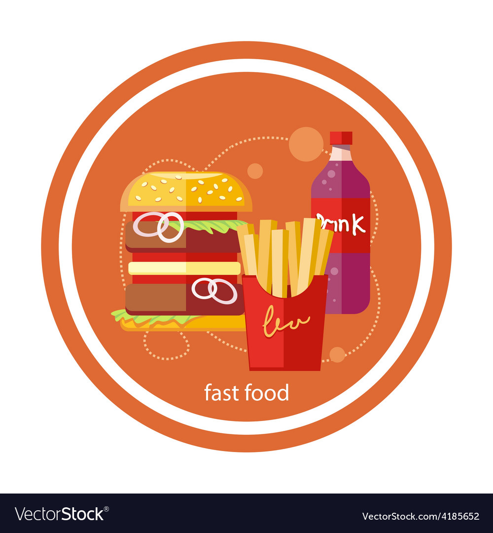 Fast food icons vector | Price: 1 Credit (USD $1)