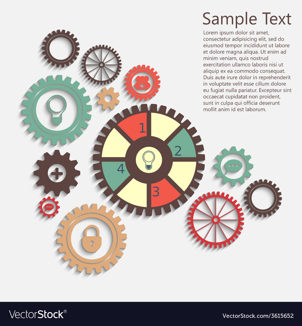 Gears info vector | Price: 1 Credit (USD $1)
