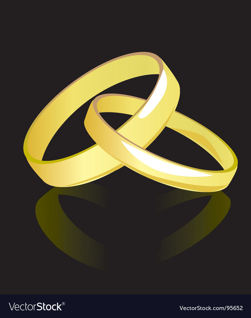 Two rings for newlyweds vector | Price: 1 Credit (USD $1)