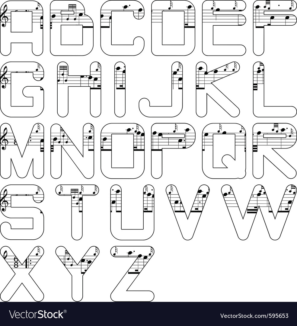 Alphabet music vector | Price: 1 Credit (USD $1)