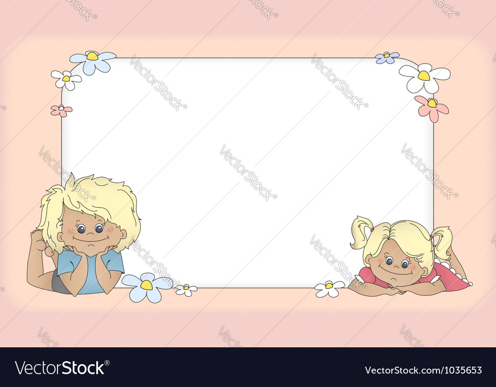 Background with children template for card vector | Price: 1 Credit (USD $1)