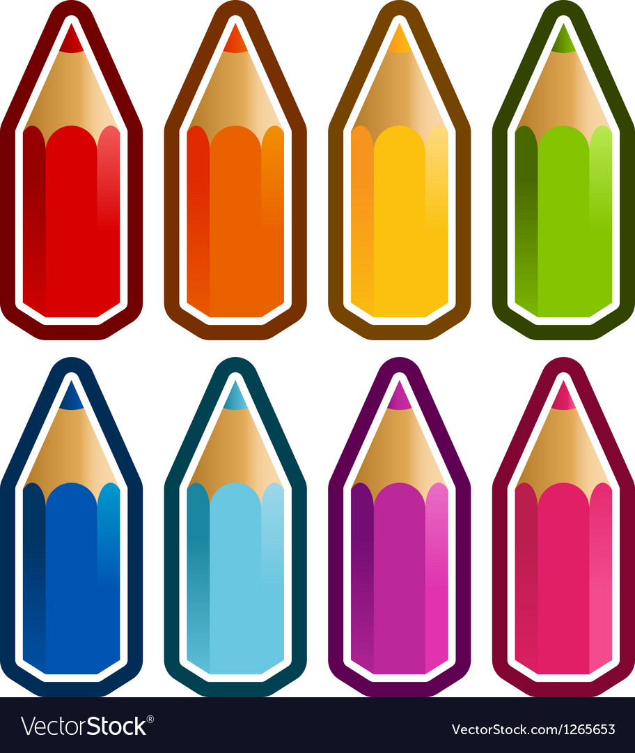 Colored crayons vector | Price: 1 Credit (USD $1)