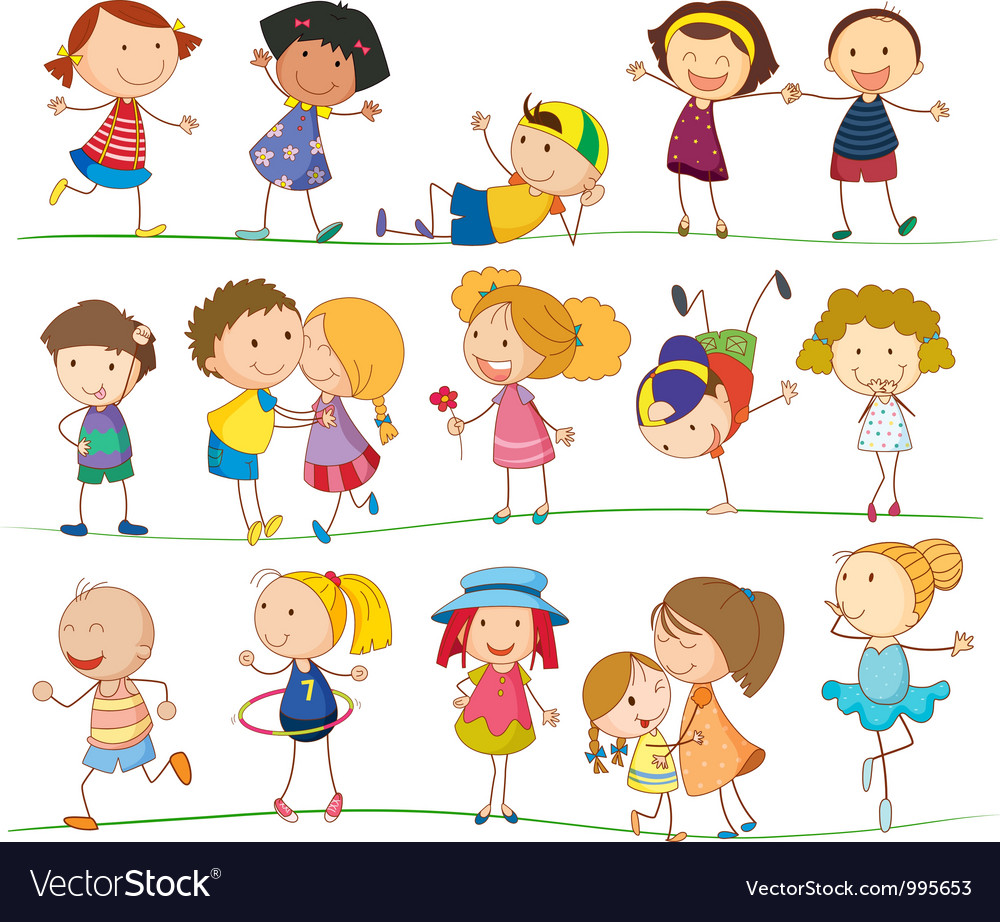 Cute family and kids vector | Price: 3 Credit (USD $3)