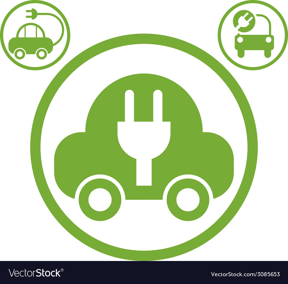 Electric car simple icon vector | Price: 1 Credit (USD $1)