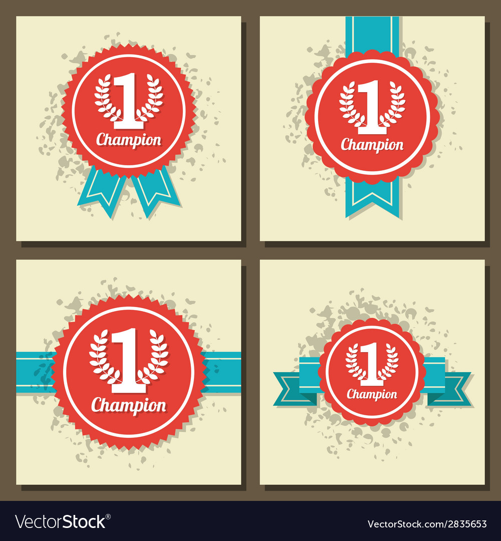 Flat design award signs vector | Price: 1 Credit (USD $1)