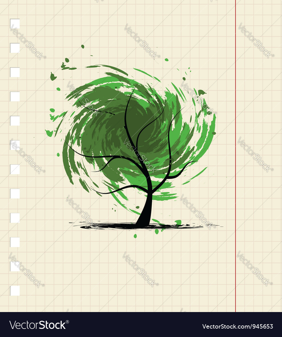 Grunge tree for your design vector | Price: 1 Credit (USD $1)