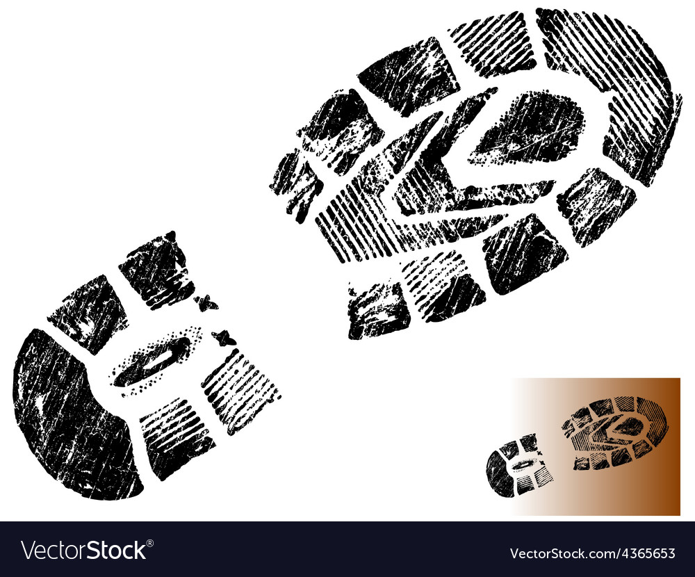 Isolated mountain bootprint - highly detaile vector   Price: 1 Credit (USD $1)