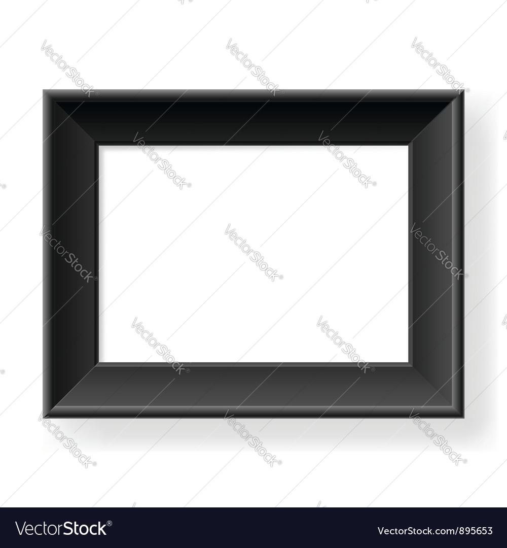 Realistic black frame vector | Price: 1 Credit (USD $1)