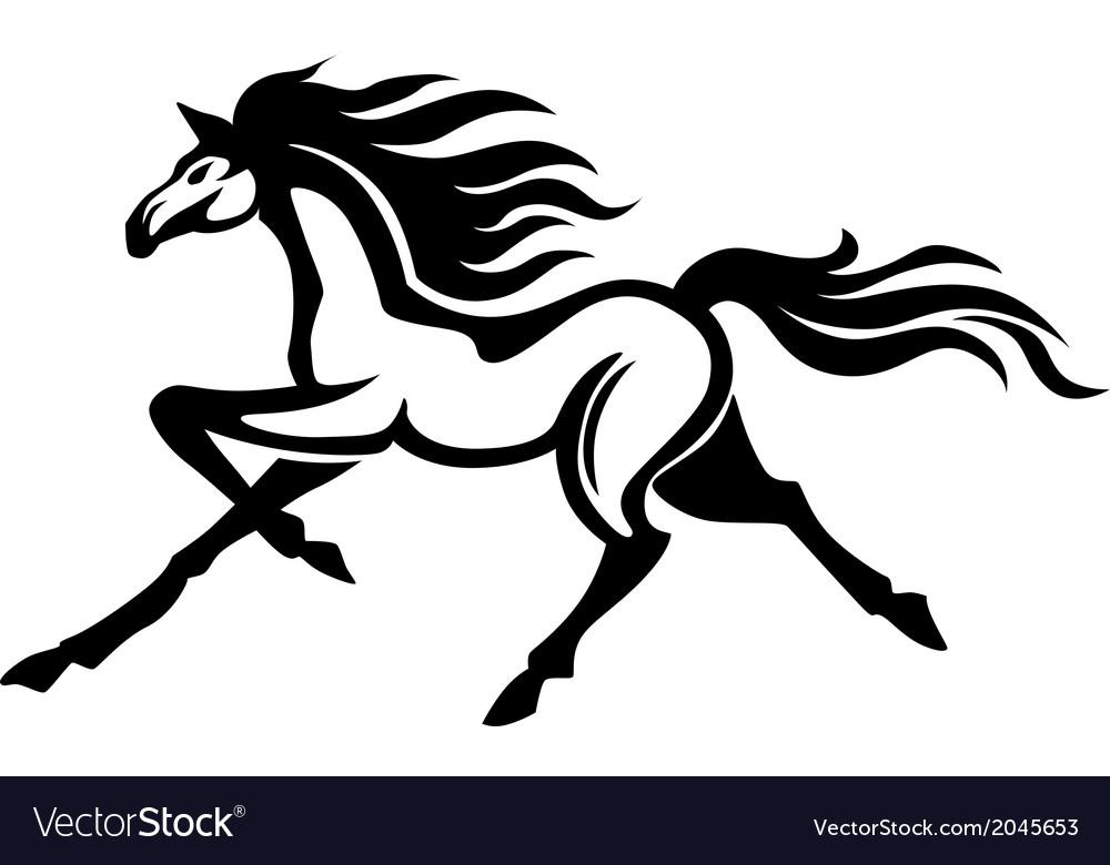 Running stallion vector | Price: 1 Credit (USD $1)