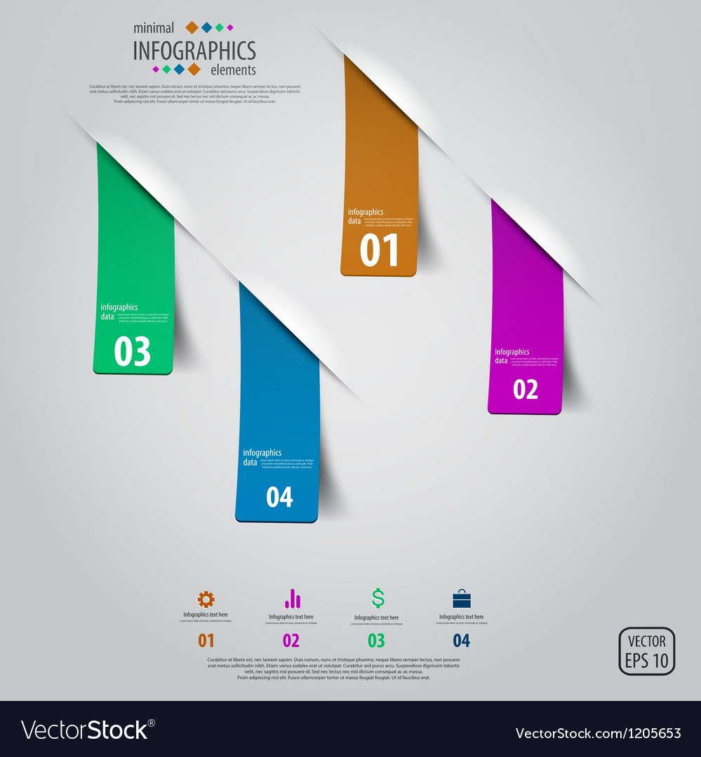 Tags infographics design vector | Price: 1 Credit (USD $1)