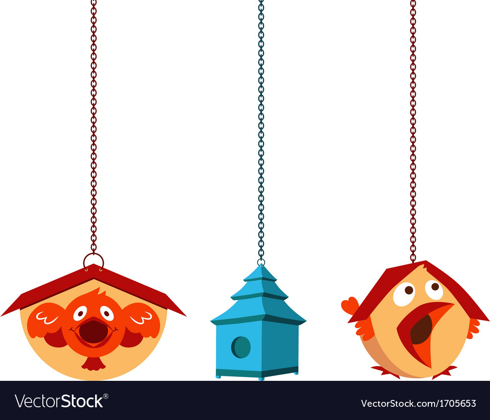 Unique bird houses vector | Price: 1 Credit (USD $1)