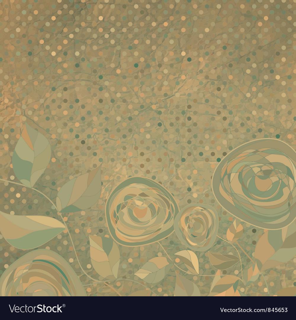 Vintage rose background vector   Price: 1 Credit (USD $1)