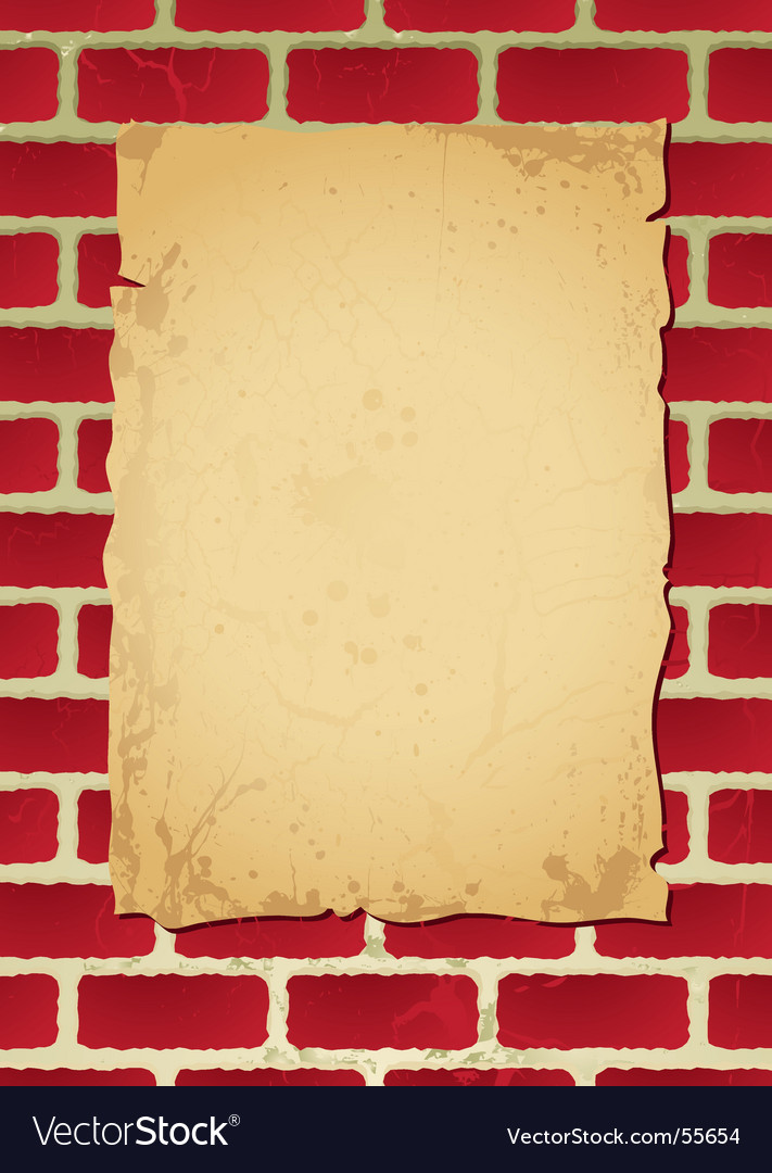 Brickwall parchment vector | Price: 1 Credit (USD $1)
