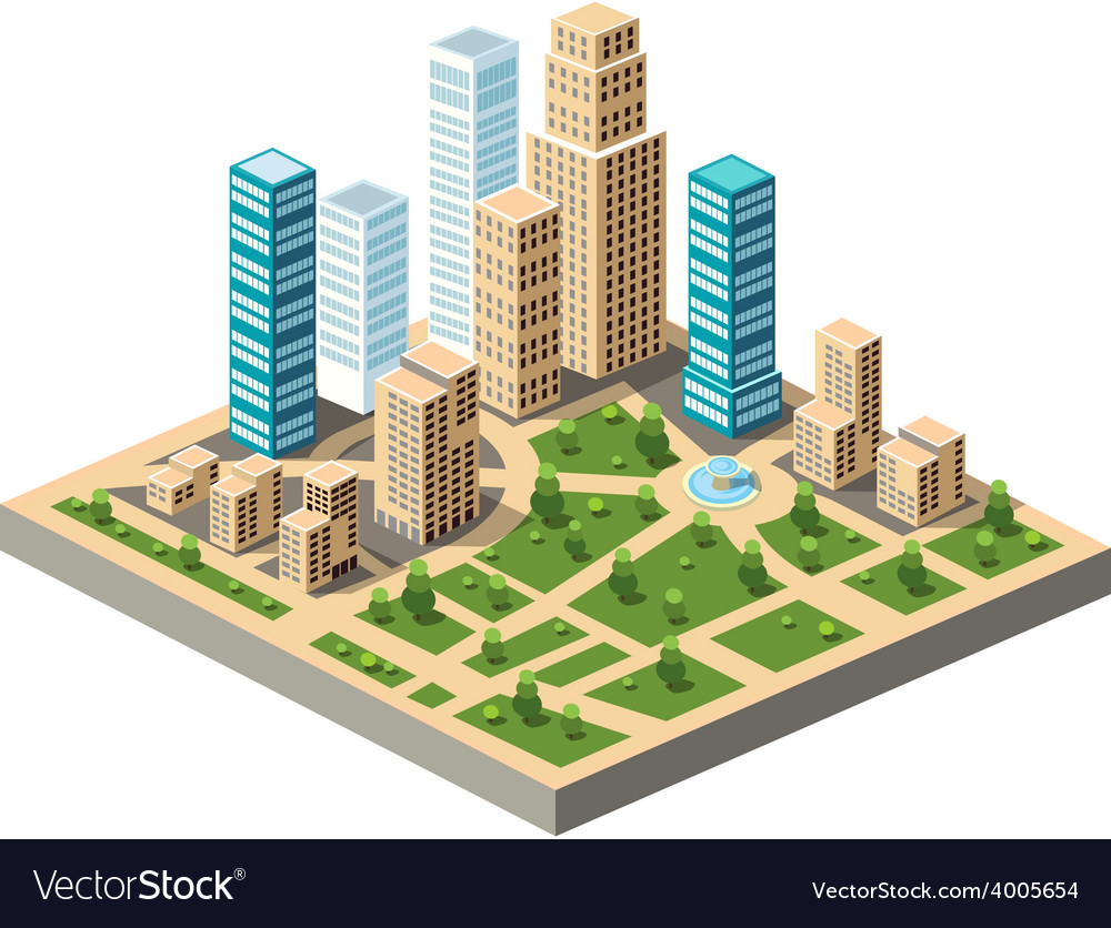 City center vector | Price: 1 Credit (USD $1)