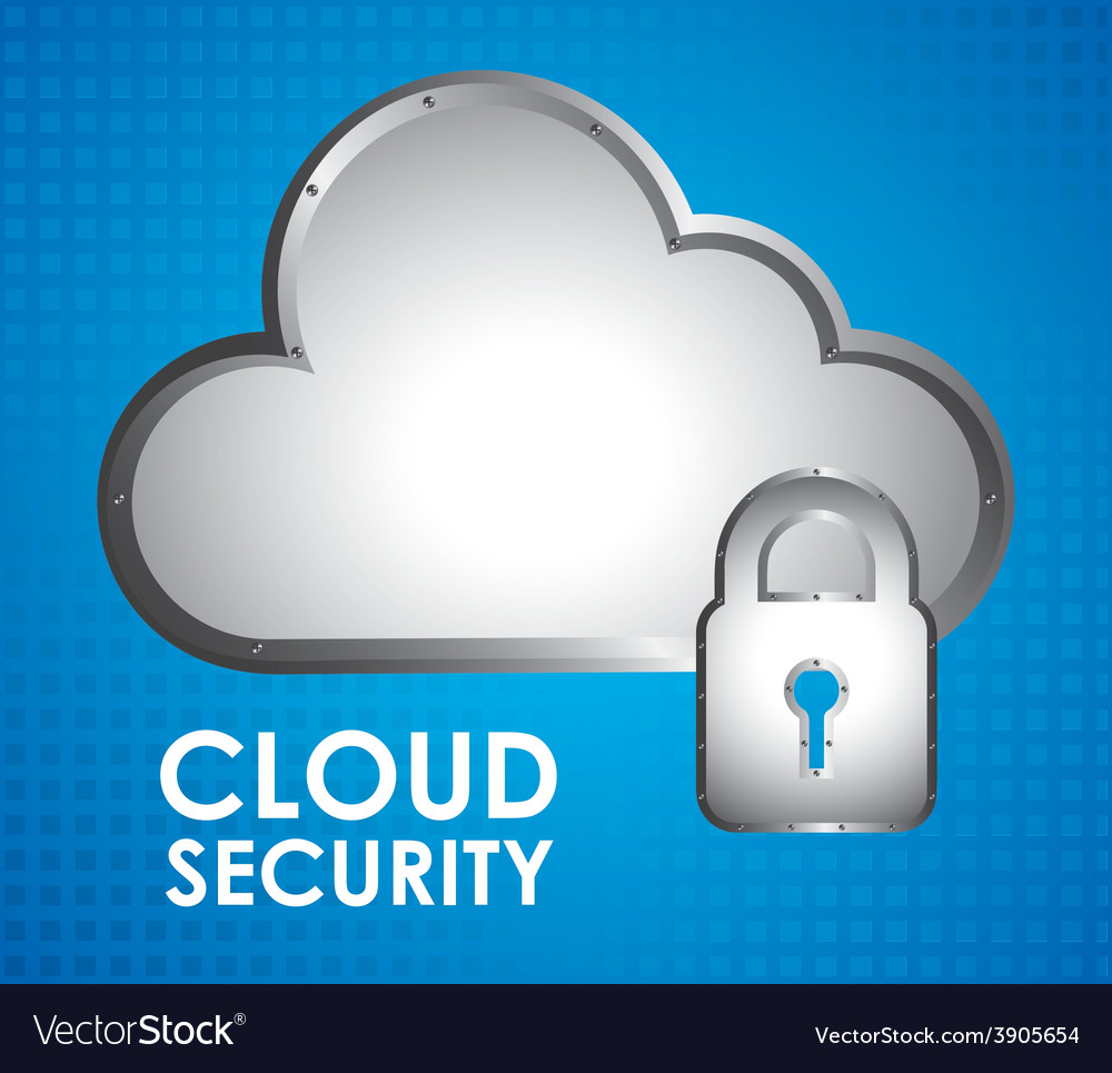 Cloud security vector | Price: 1 Credit (USD $1)