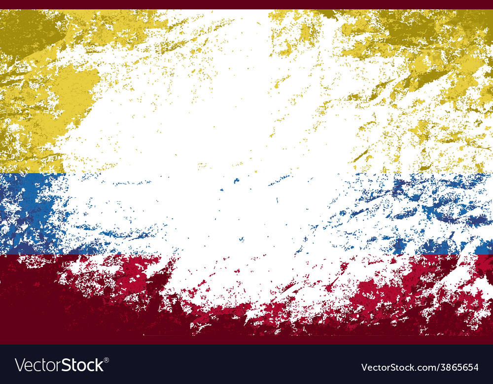 Colombian flag grunge background vector | Price: 1 Credit (USD $1)