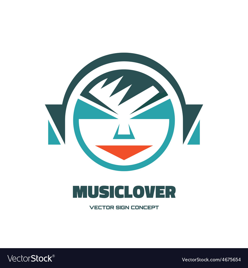 Music lover - logo concept vector | Price: 1 Credit (USD $1)