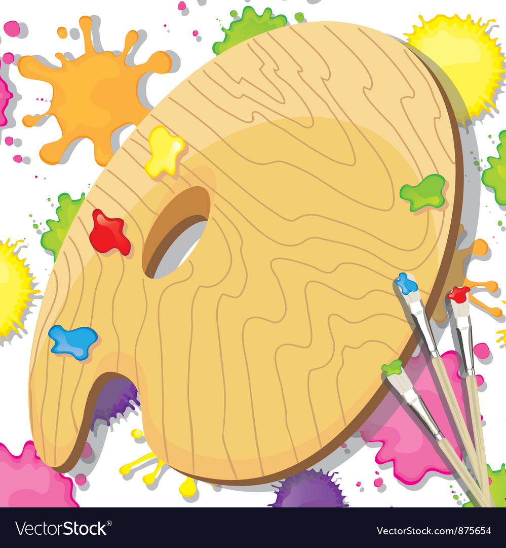 Painting art party invitation vector | Price: 1 Credit (USD $1)