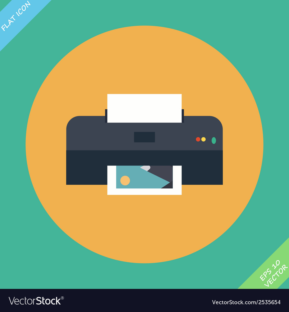 Printer icon - vector | Price: 1 Credit (USD $1)