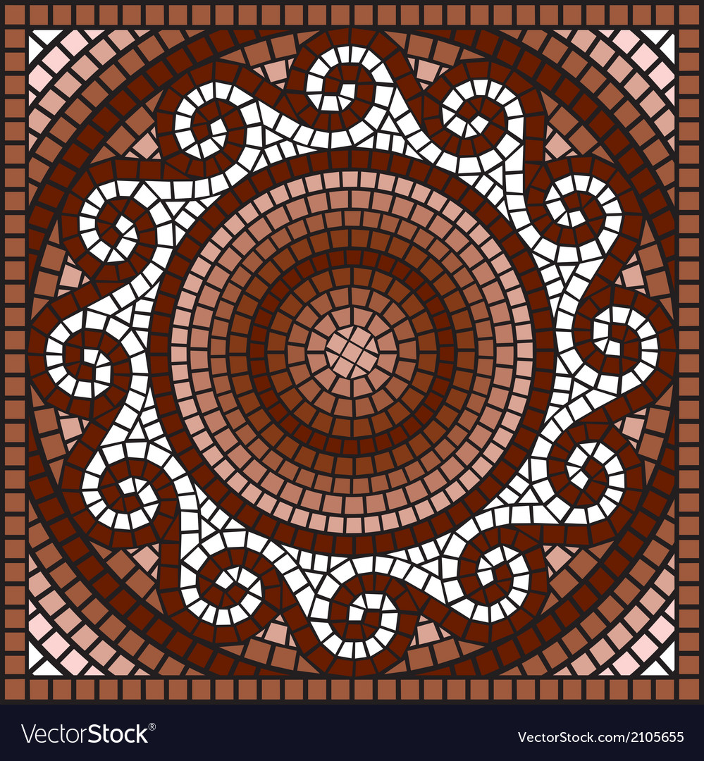 Classic greek mosaic vector | Price: 1 Credit (USD $1)