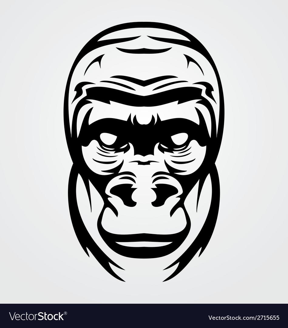 Gorilla face tribal vector   Price: 1 Credit (USD $1)