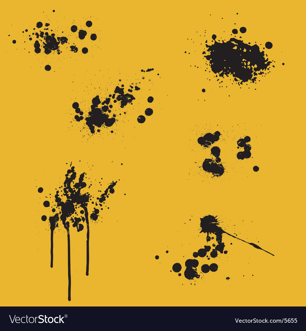 Ink splits vector | Price: 1 Credit (USD $1)