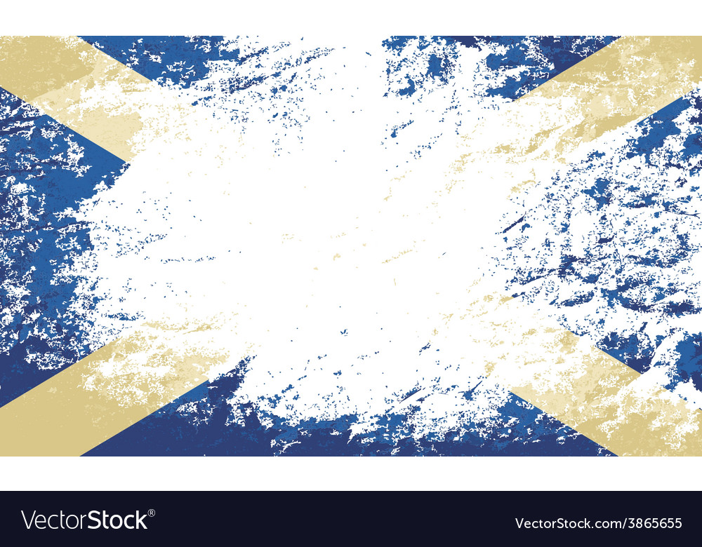 Scottish flag grunge background vector | Price: 1 Credit (USD $1)