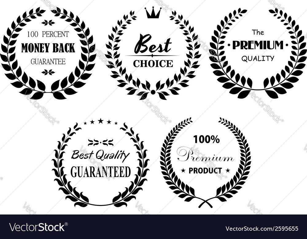 Set of premium and best laurel wreaths vector | Price: 1 Credit (USD $1)