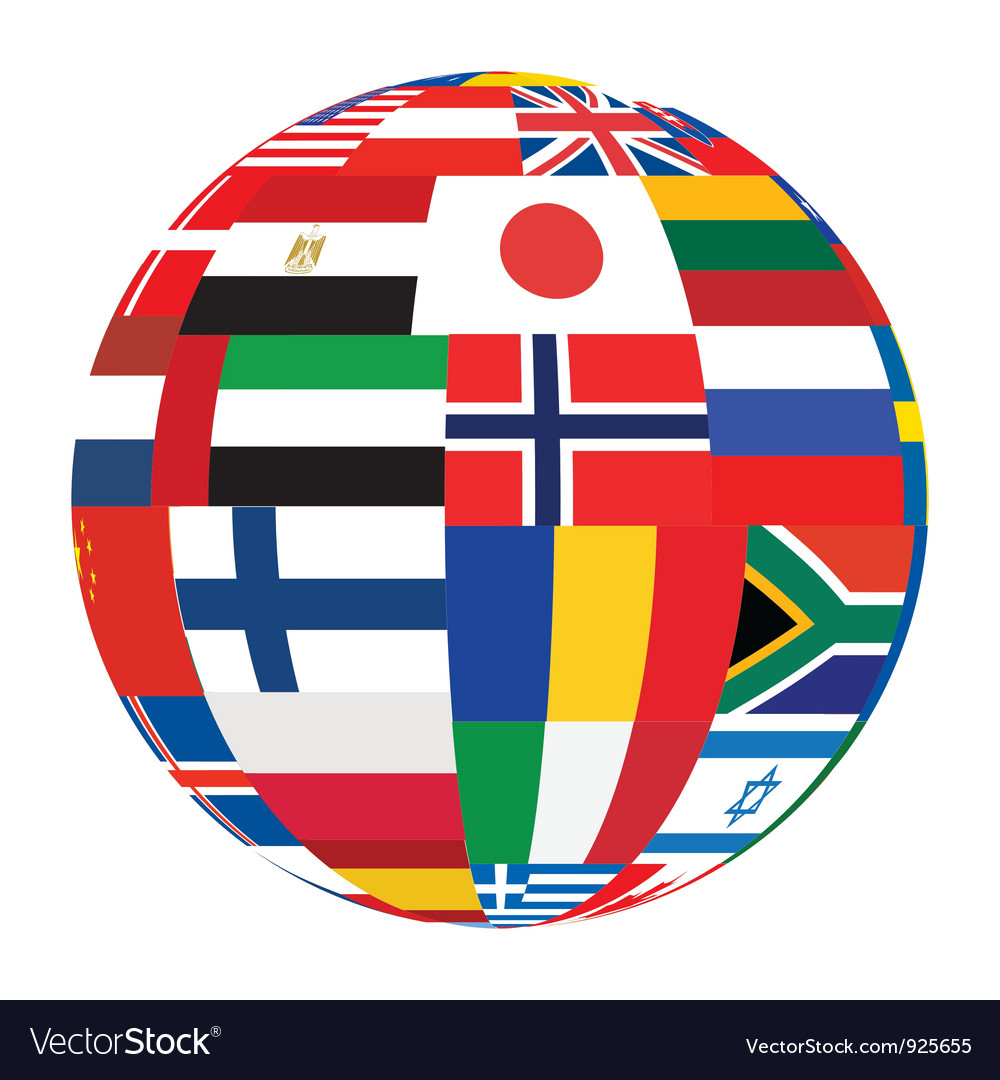Sphere with flags vector | Price: 1 Credit (USD $1)
