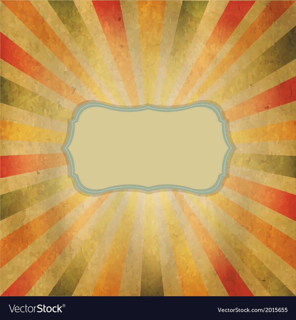 Square shaped sunburst vector | Price: 1 Credit (USD $1)