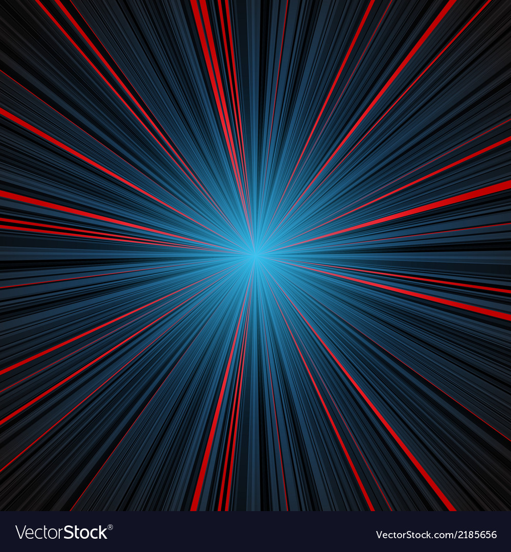 Abstract blue and red stripes burst background vector | Price: 1 Credit (USD $1)