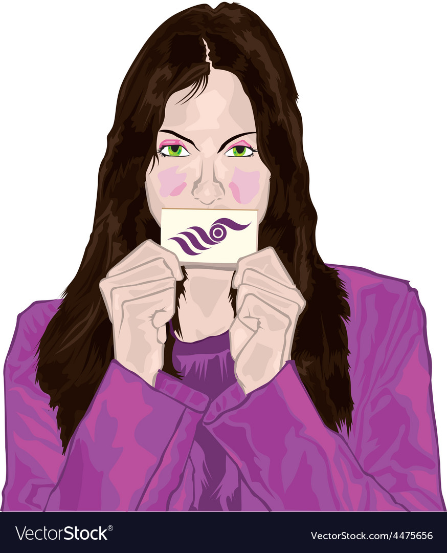 Business card woman vector | Price: 1 Credit (USD $1)