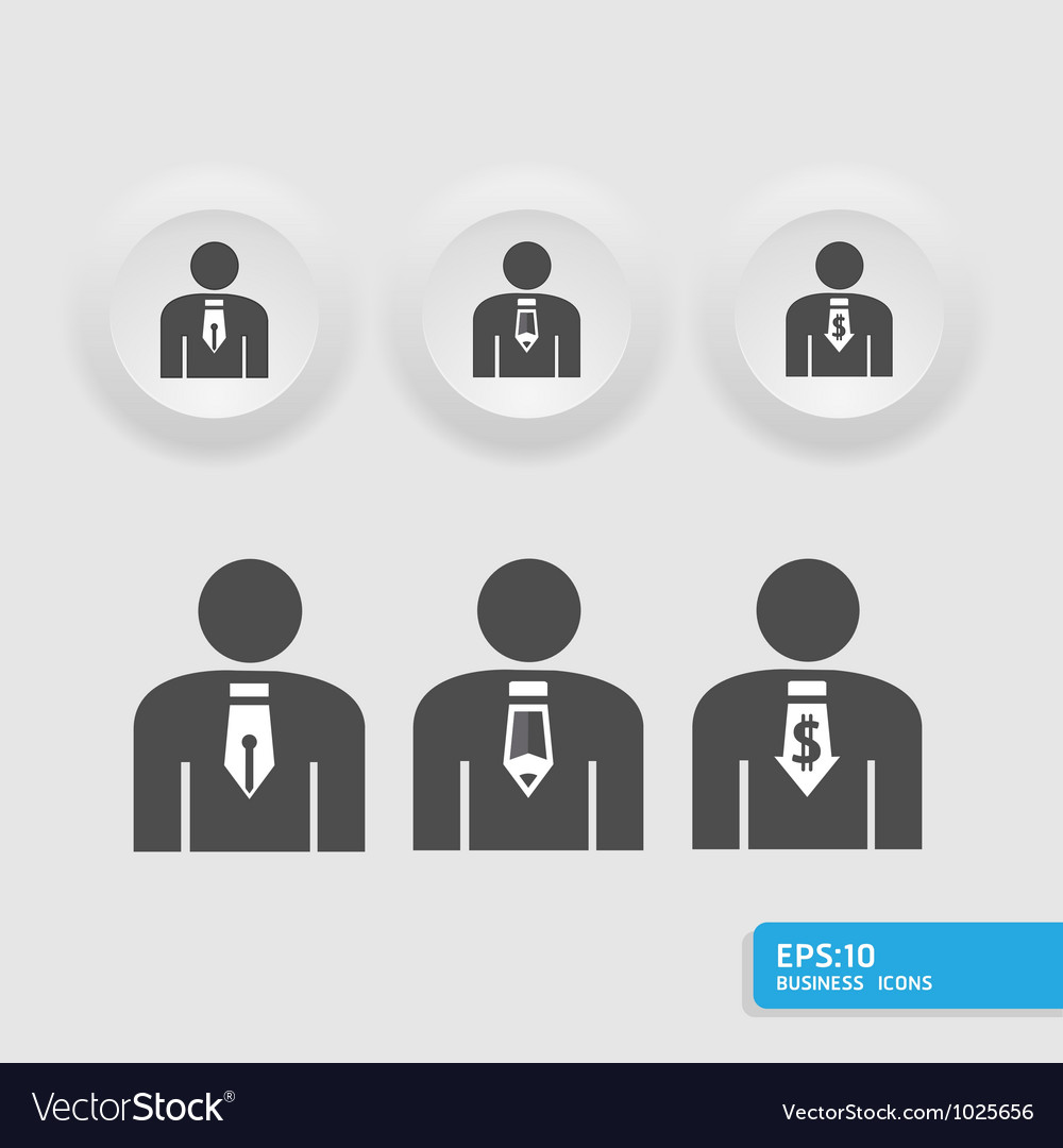 Businessmanbusiness man icon set vector | Price: 1 Credit (USD $1)