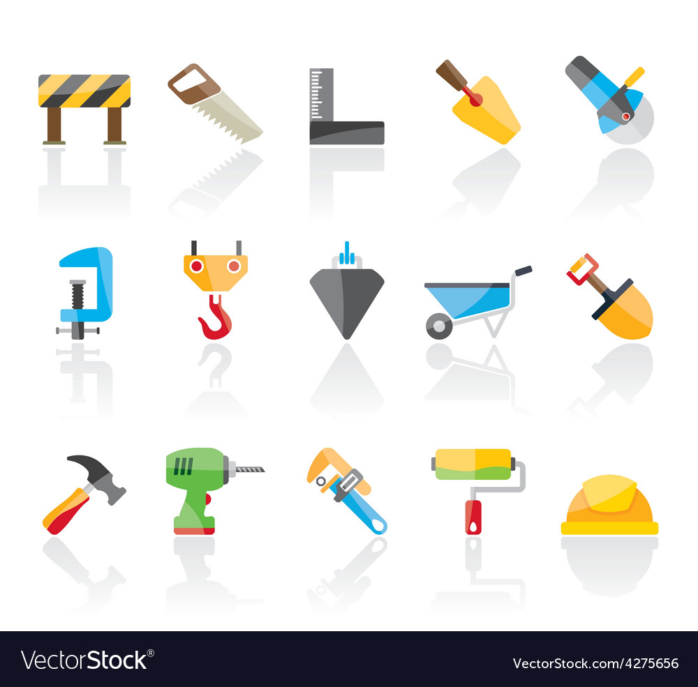 Construction industry and tools icons vector | Price: 1 Credit (USD $1)