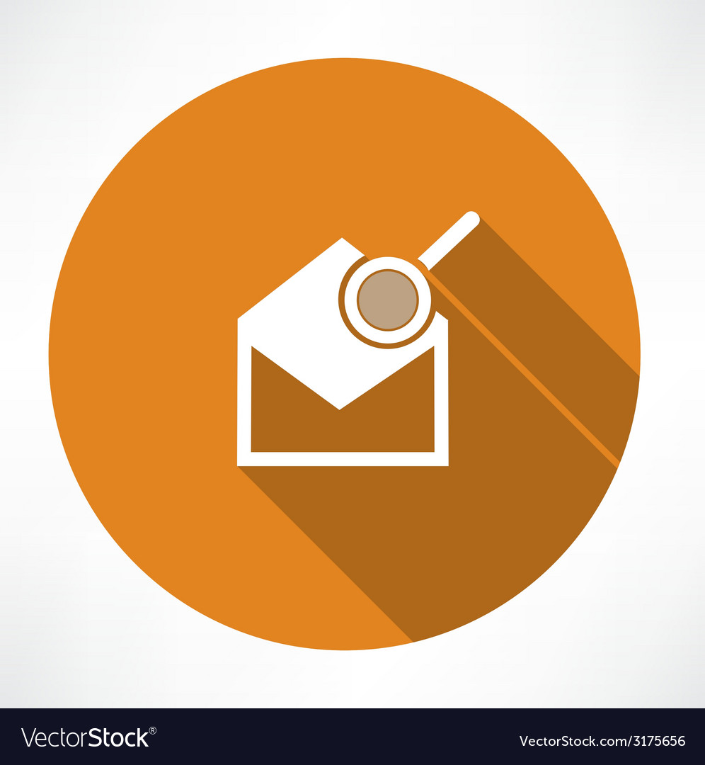 Email icon and magnifying glass vector | Price: 1 Credit (USD $1)