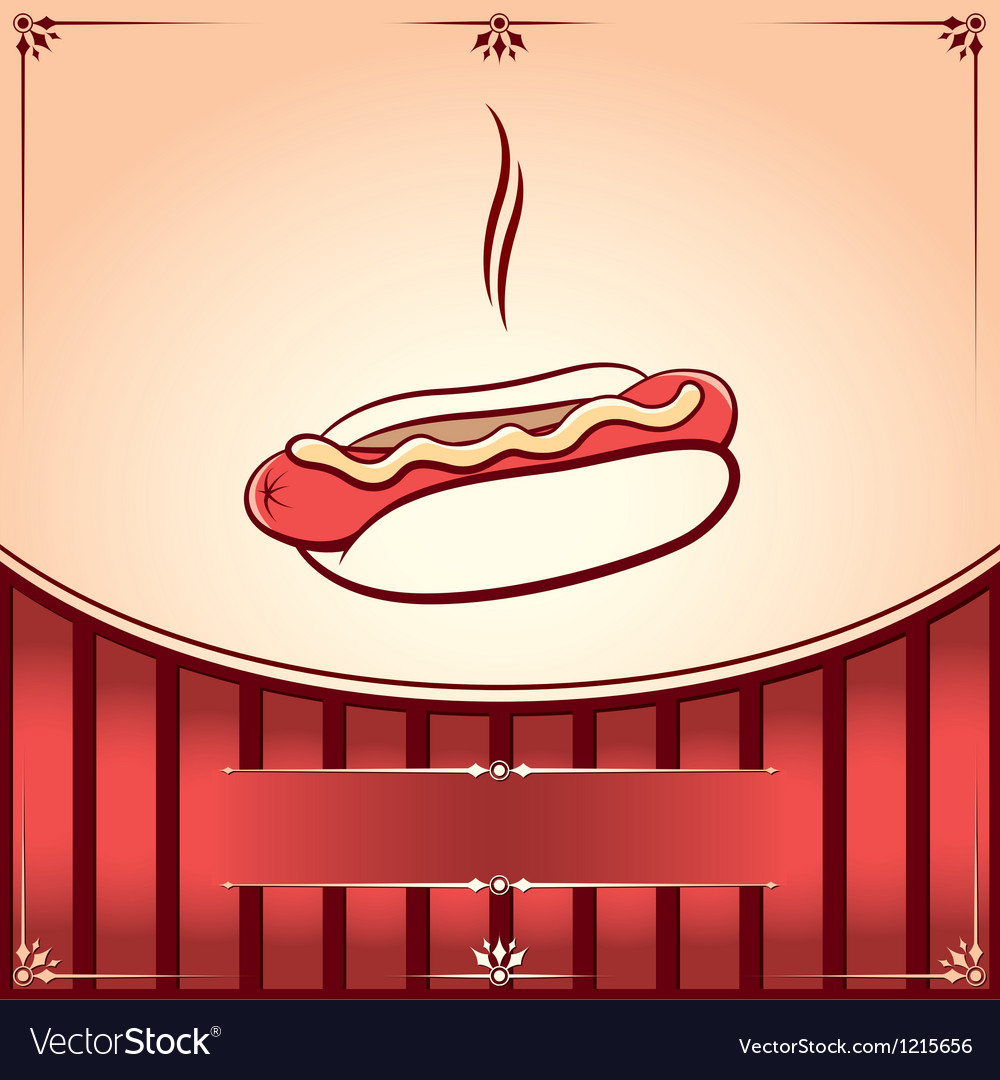 Fast food hot dog vector | Price: 1 Credit (USD $1)