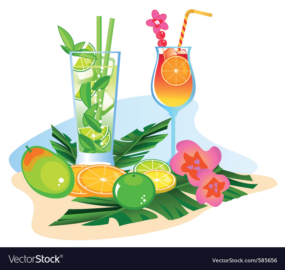 Fruit  cocktails vector | Price: 1 Credit (USD $1)
