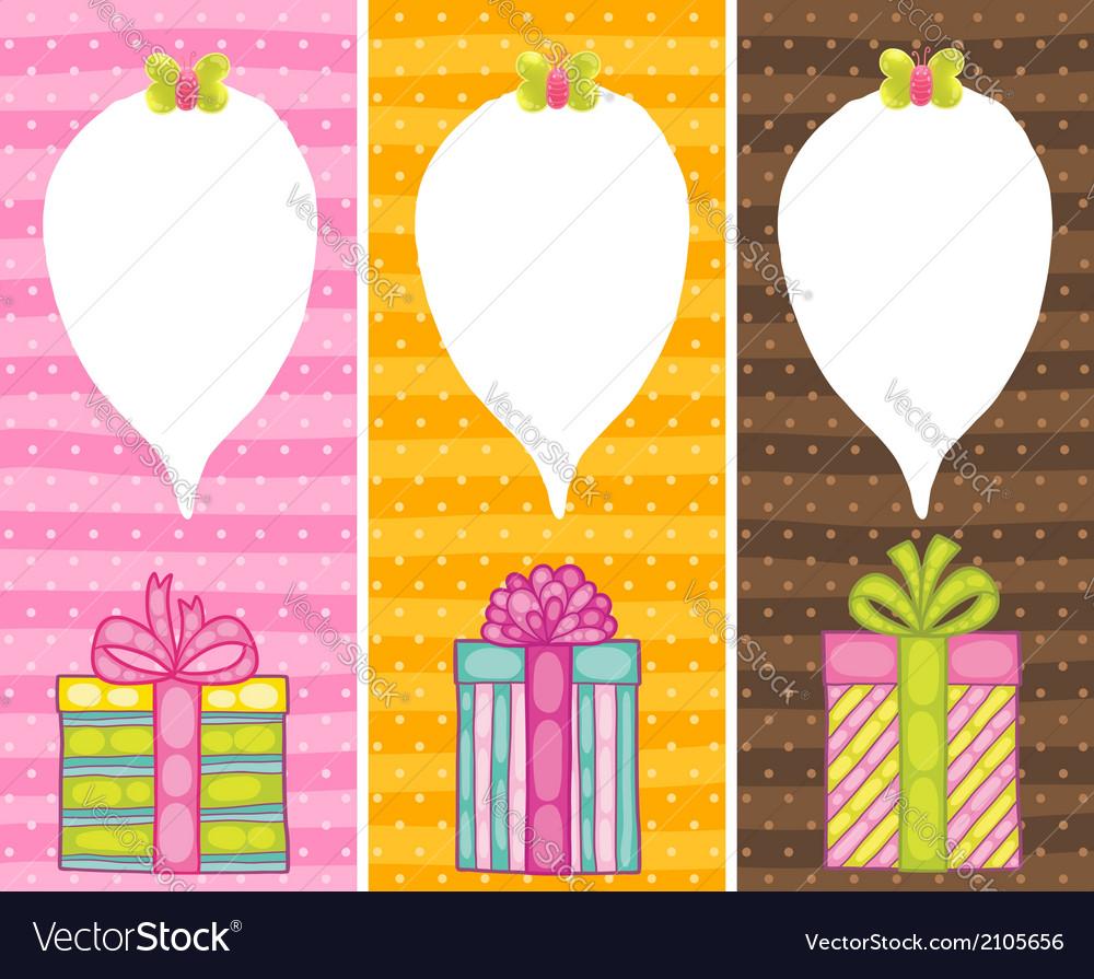 Happy birthday present gift box with confetti vector   Price: 1 Credit (USD $1)