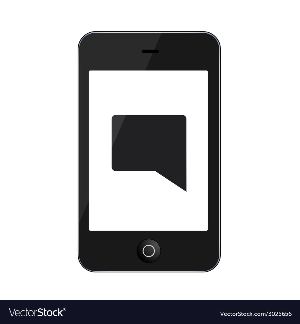 Modern smartphone isolated on white vector   Price: 1 Credit (USD $1)