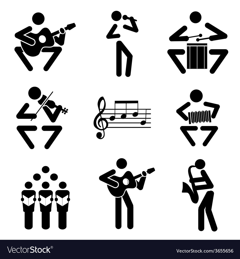Musician icons vector | Price: 1 Credit (USD $1)