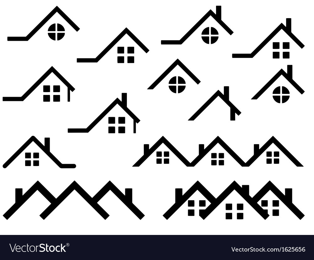 Roof set vector | Price: 1 Credit (USD $1)