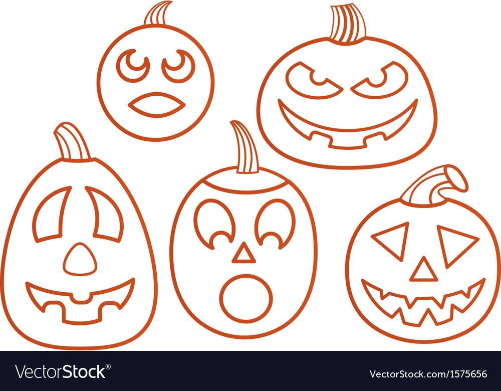Set of pumpkins vector   Price: 1 Credit (USD $1)