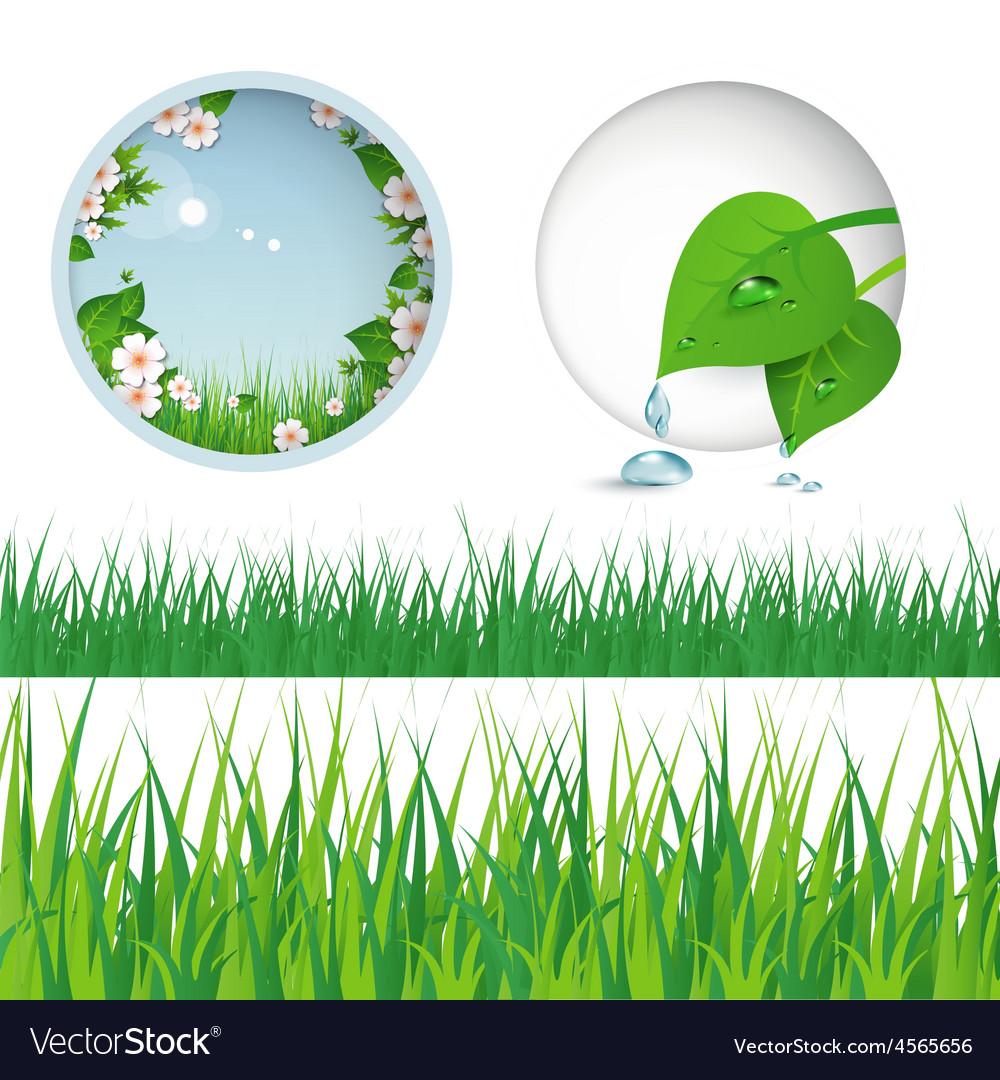 Spring grass vector | Price: 1 Credit (USD $1)