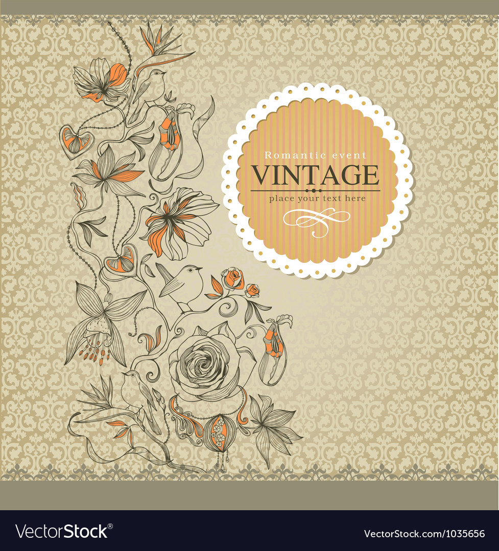 Vintage border vector | Price: 1 Credit (USD $1)